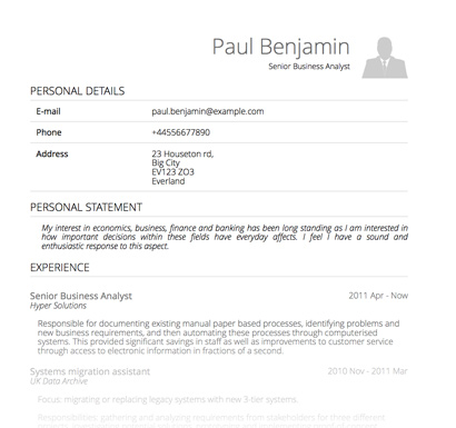 pdf resume template lightweight